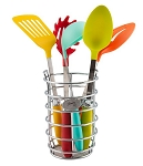 Utensil Set 6pc Stainless Steel with Multi-color Handles