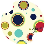 Fiesta® Thirstystone Dots Car Coaster