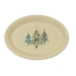 Large Oval Platter - Trio of Christmas Trees