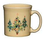 Java Mug 12oz - Trio of Christmas Tree