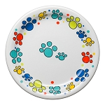 Scatter Print Cat Paws Appetizer Plate