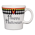 Tapered Mug, 15 Oz - Harlequin Happy Halloween