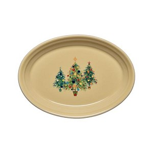 Small Oval Platter - Trio of Christmas Trees