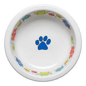 Scatter Print Dog Paws Large Bowl