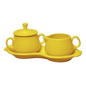 Sugar and Creamer Tray Set